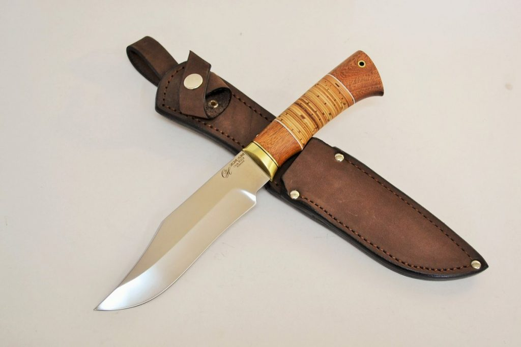 Нож Боуи Носорог. 95Х18, сапеле.