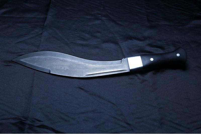 Нож Кукри. Дамаск, граб.