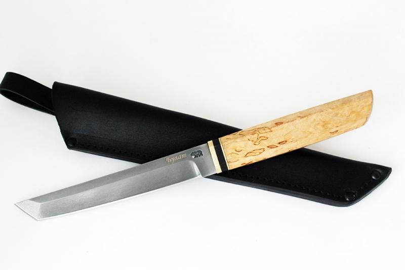 Нож Танто. Булат, карельская береза.