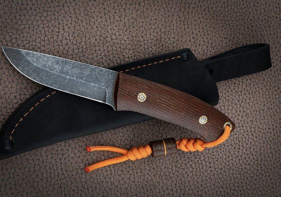Цельнометаллический нож Бушкрафт. К340, текстолит.