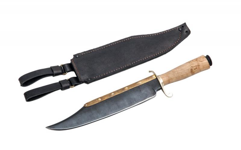 Нож Боуи Неудержимый. 65Г, карельская береза.