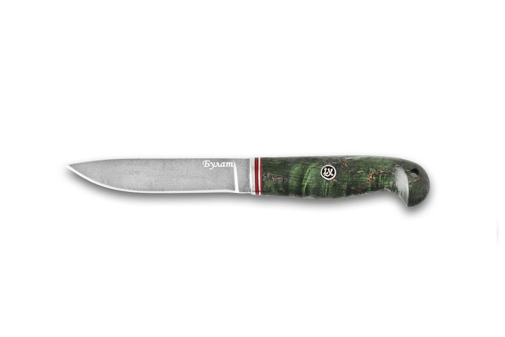 Нож Финский 2. Булат, стабилизированная карельская береза.
