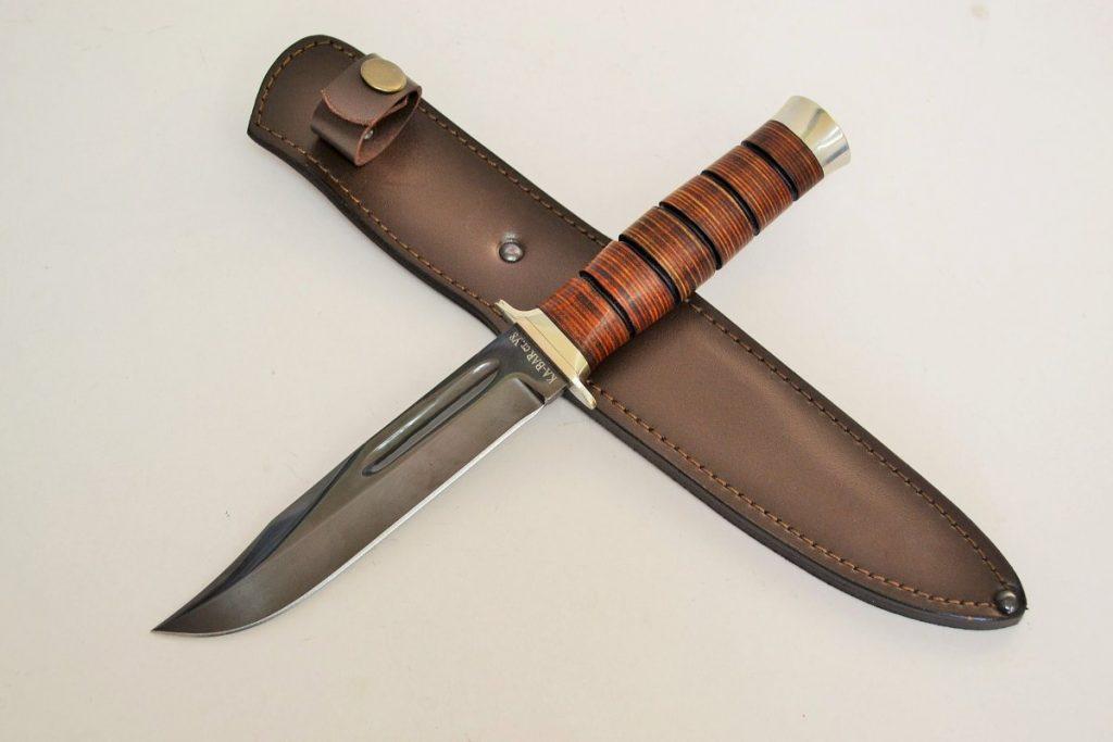 Нож Кабар. У8, кожа.