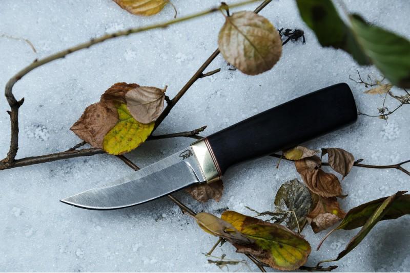 Нож Пуукко 3. Дамаск, граб.