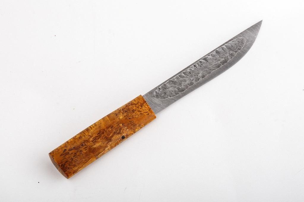 Нож Якутский большой. Дамаск, стабилизированная карельская береза.