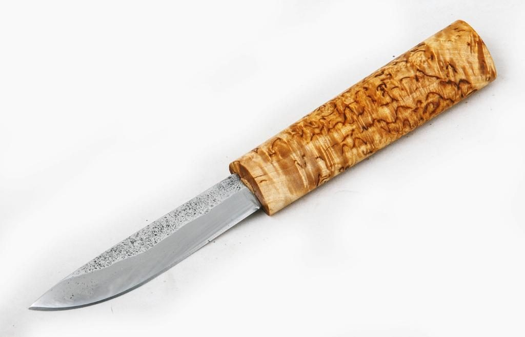 Нож Якутский малый. Х12МФ, карельская береза.