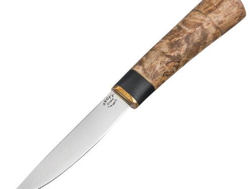 Нож Якутский малый. Сталь Х12МФ, рукоять карельская береза.