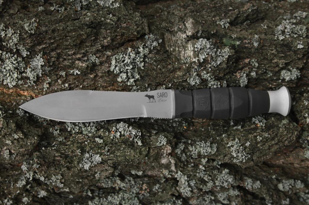 Нож Нерпа. AUS6, резина.