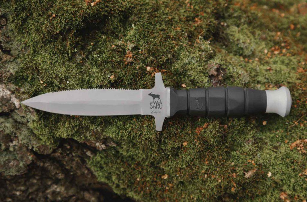 Нож Стрим. AUS6, резина.